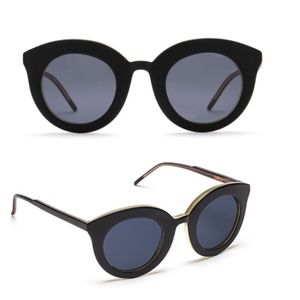 Kaibosh Black oversized round sunglasses